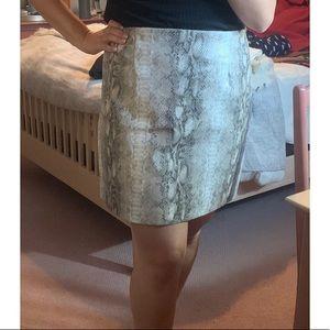 Dynamite Snake Print Faux Leather Skirt XL